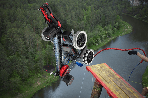 bungee jumping clawbot