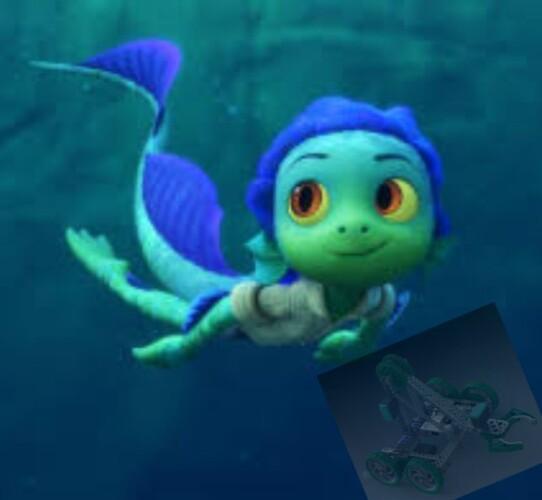 Taran's going underwater