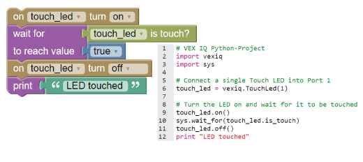 Robot Mesh Python (and Blockly) for VEX IQ release [Free online
