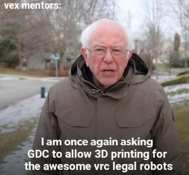allow 3D printed parts for vrc legal robots
