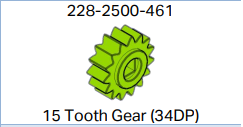 15 tooth gear