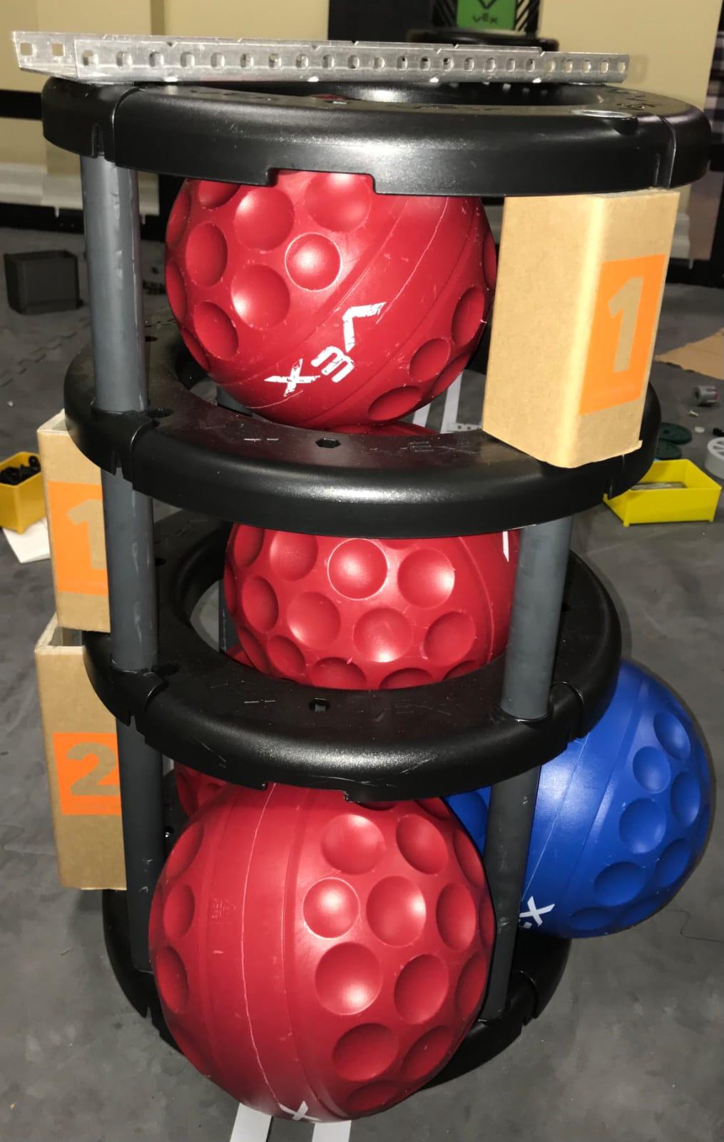 5 balls centre